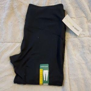 New Marika Sport Black Work Out Pants Size Medium